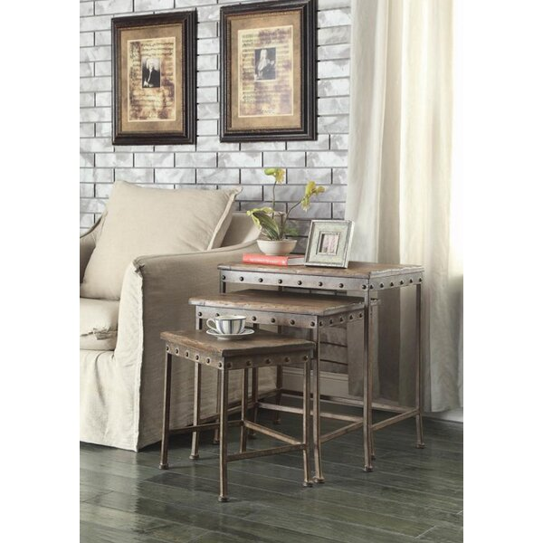 Cosimo 3 Piece Nesting Table by 17 Stories