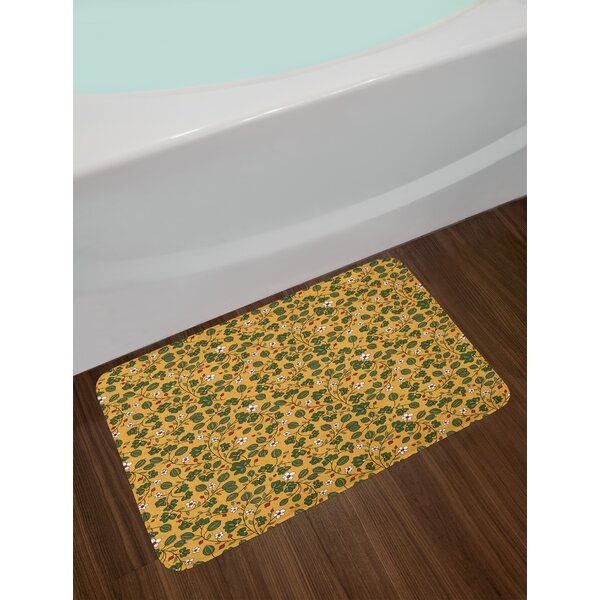 Mother Nature Flourishing Floral Bath Rug by East Urban Home