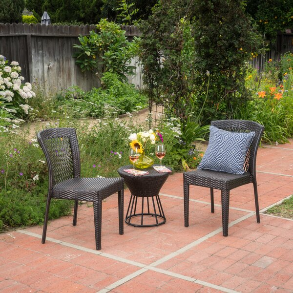 Shephard 3 Piece Rattan Seating Group by Wrought Studio