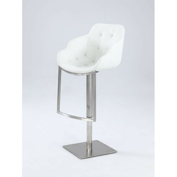Nazia Adjustable Height Bar Stool by Orren Ellis