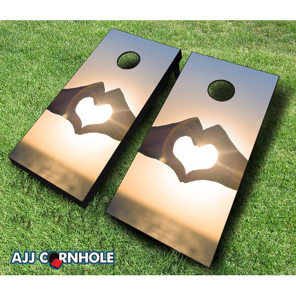 Love Sunset Cornhole Set by AJJ Cornhole