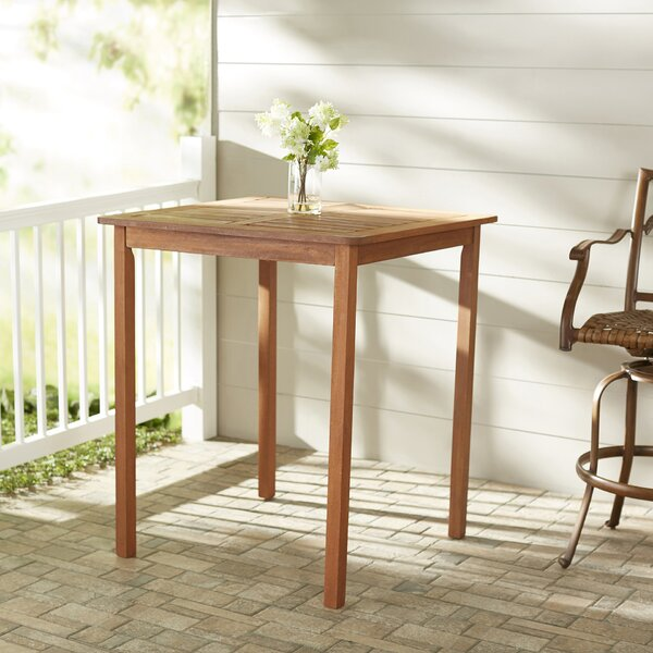 Folse Solid Wood Bar Table by Brayden Studio