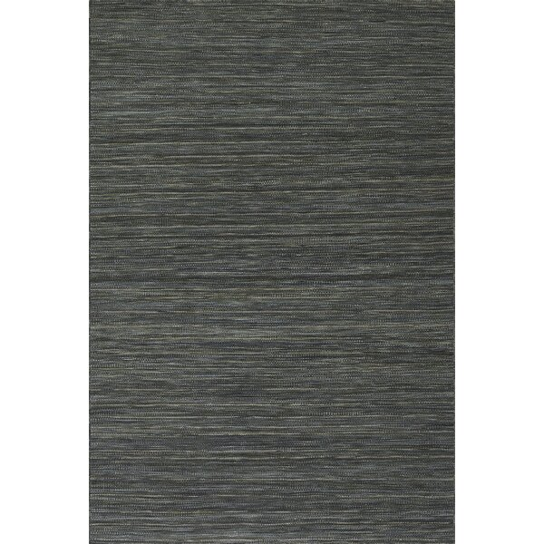 Houblon Hand Woven Wool Carbon Area Rug by Gracie Oaks