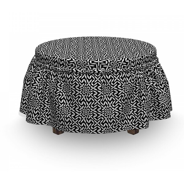 Abstract Hipster Ottoman Slipcover (Set Of 2) By East Urban Home