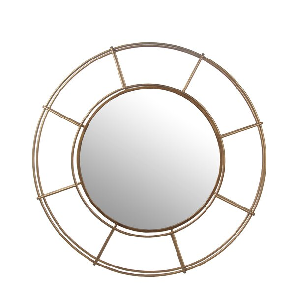 Round Iron Accent Wall Mirror by Brayden Studio