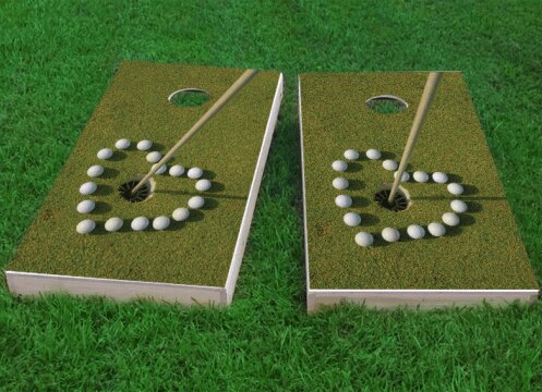 Golf Love Cornhole Game (Set of 2) by Custom Cornhole Boards