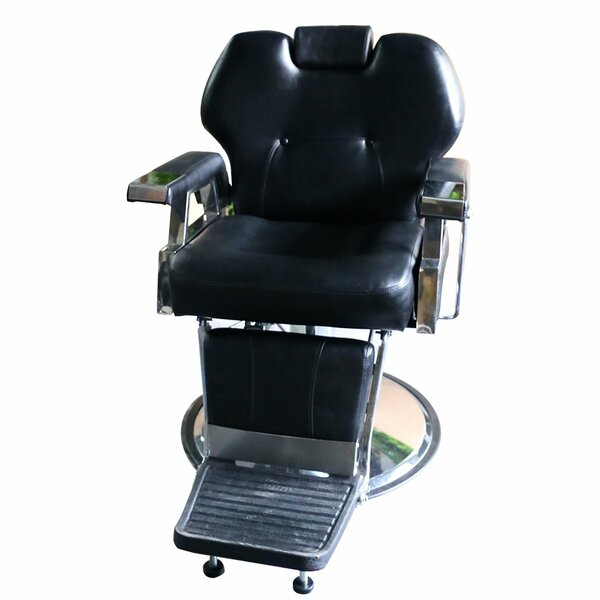 Genuine Leather Reclining Adjustable Width Massage Chair by Symple Stuff Symple Stuff