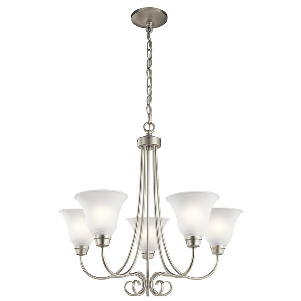 Bourneville 5 - Light Shaded Classic / Traditional Chandelier by Darby Home Co Darby Home Co