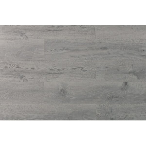 Aditya 8 x 72 x 11.93mm Oak Laminate Flooring in Easy White by Serradon