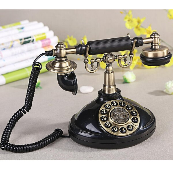 Push Button Dial Table Telephone by LNC Home