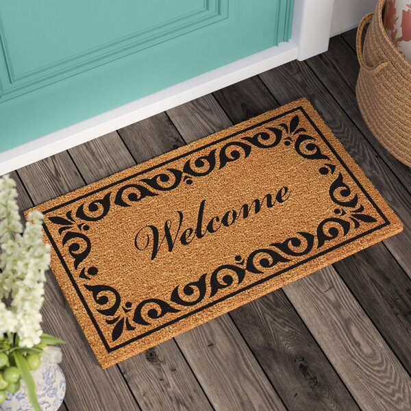 Lindemann Welcome Doormat by Three Posts