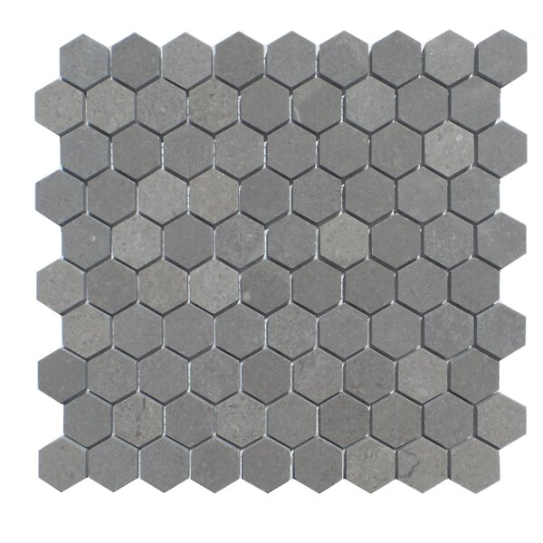 1.25 x 2  Natural Stone Mosaic Tile in London Ash by Mulia Tile