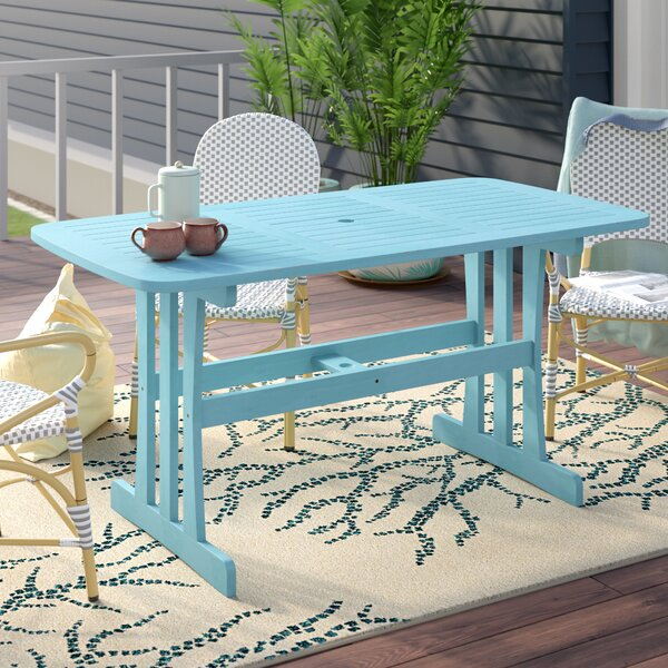Sabbattus Wooden Dining Table by Breakwater Bay