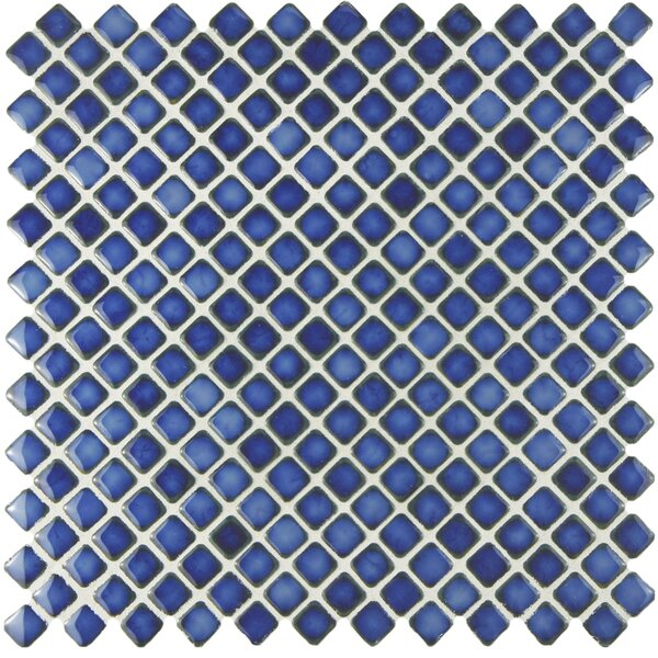 Gem 0.71 x 0.71 Porcelain Mosaic Tile in Glossy Sapphire by EliteTile