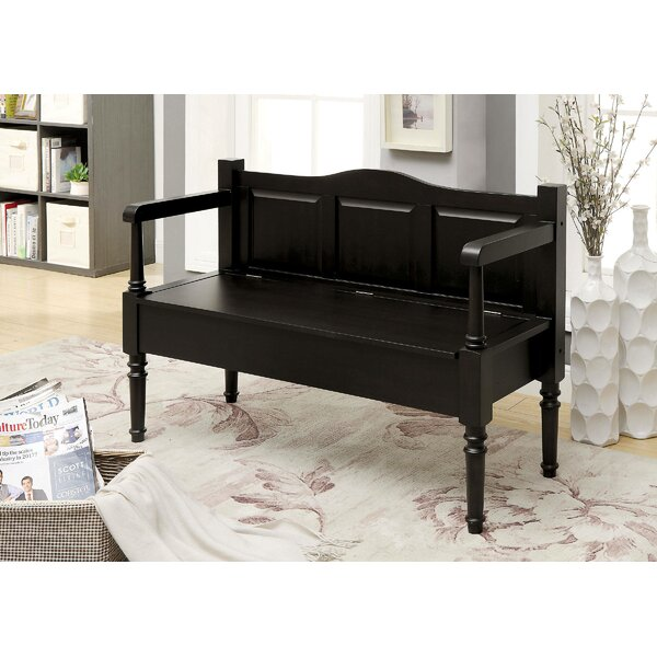 Phoebe Wood Storage Bench by Alcott Hill