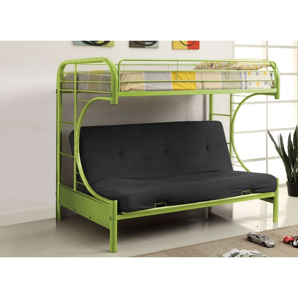 Quezada Twin Over Twin Futon Bunk Bed by Zoomie Kids