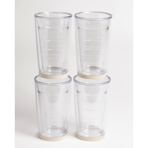 Newport Non-skid 16 oz. Plastic Every Day Glass (Set of 4) by Galleyware Company