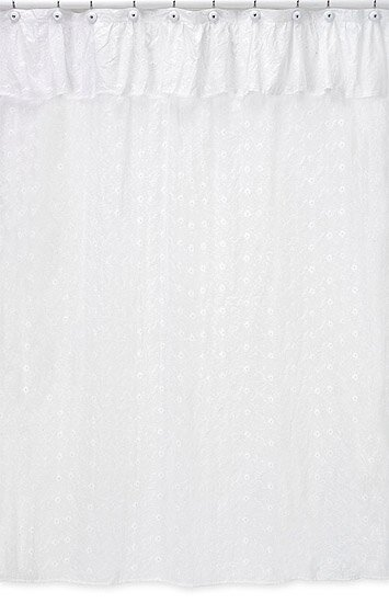 Sweet Jojo Designs Eyelet Cotton Shower Curtain & Reviews | Wayfair