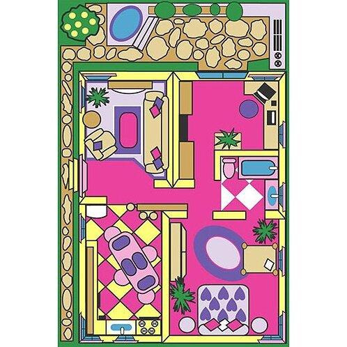 Fun Time Dollhouse Play Area Rug by Fun Rugs