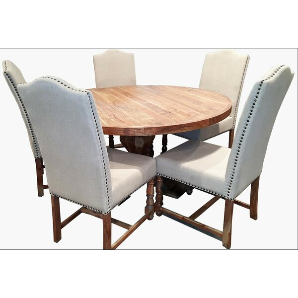 Walburg Solid Wood Dining Table by Millwood Pines