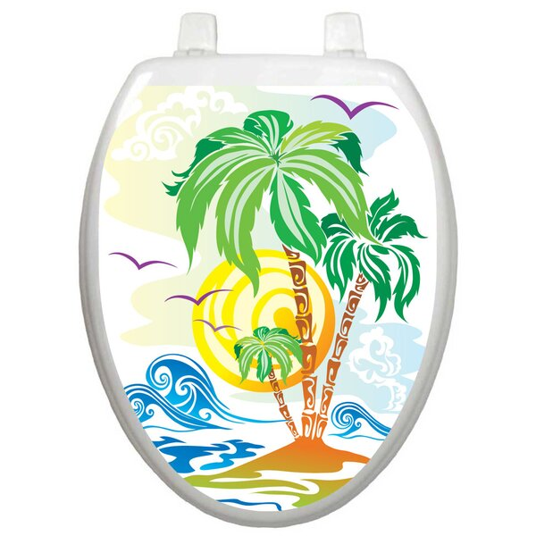 Themes Catch The Wave Toilet Seat Decal by Toilet Tattoos