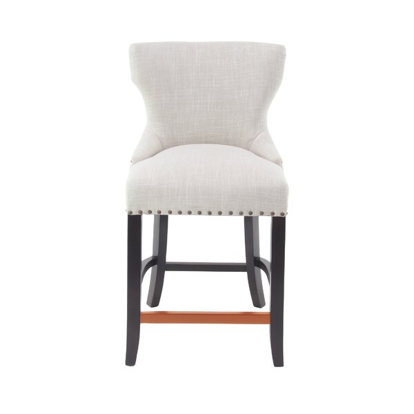 Aahil Eclectic Wingback 24 Bar Stool by Alcott Hill