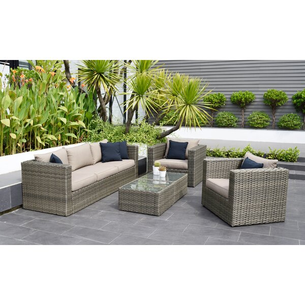Moyne 5 Piece Sofa Set with Cushions by Beachcrest Home