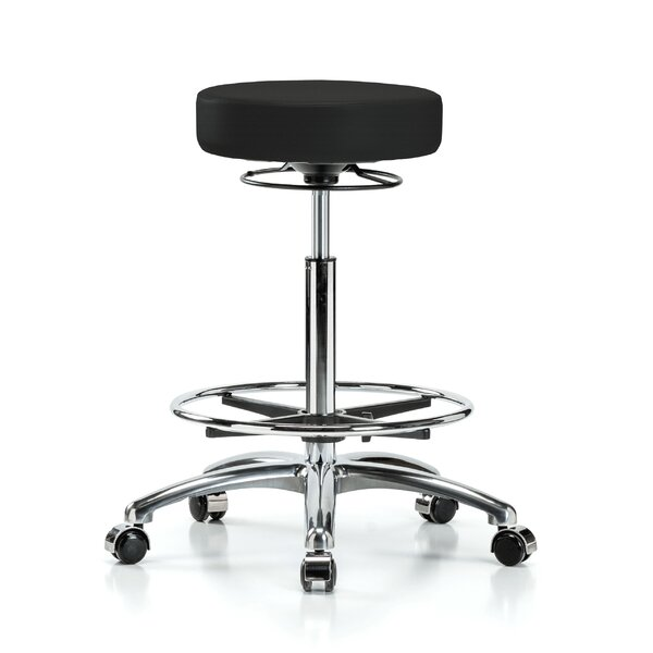 Height Adjustable Massage Therapy Swivel Stool with Foot Ring by Perch Chairs & Stools