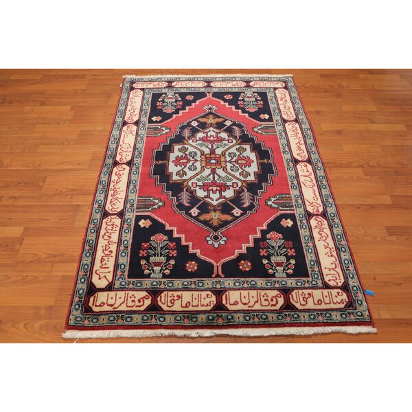 One-of-a-Kind Eastwood Traditional Persian Hand-Knotted 4'1