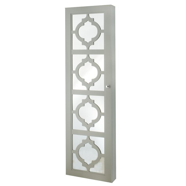 Gaunt Over The Door Jewelry Armoire with Mirror by Three Posts