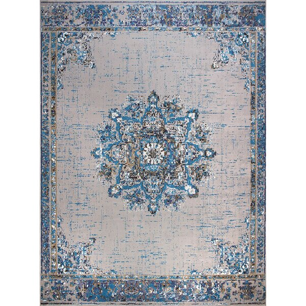 Meyersdale Blue/Gray Indoor/Outdoor Area Rug by World Menagerie