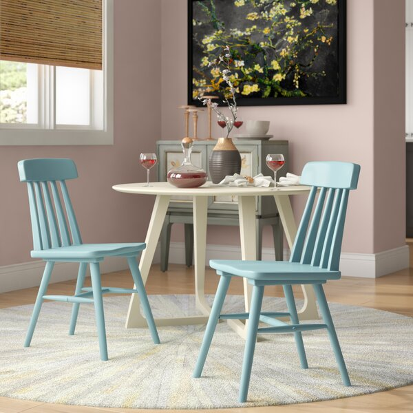 Lorine Armless Solid Wood Dining Chair (Set of 2) by Bungalow Rose