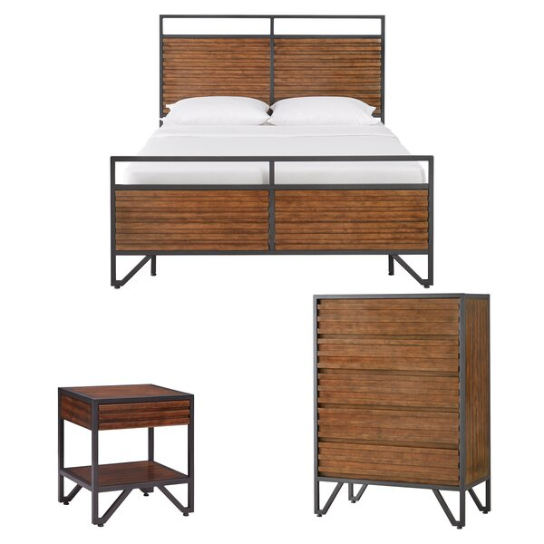 Lund Stacked Wood Sleigh Configurable Bedroom Set by Mercury Row