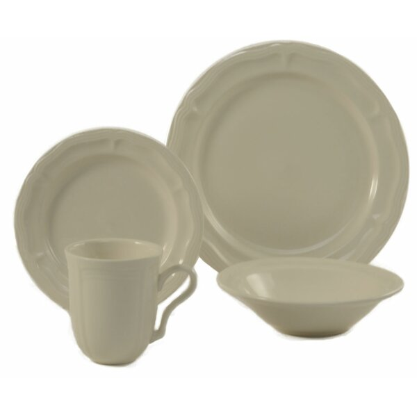Mettie 16 Piece Dinnerware Set, Service for 4 by ColorUs China