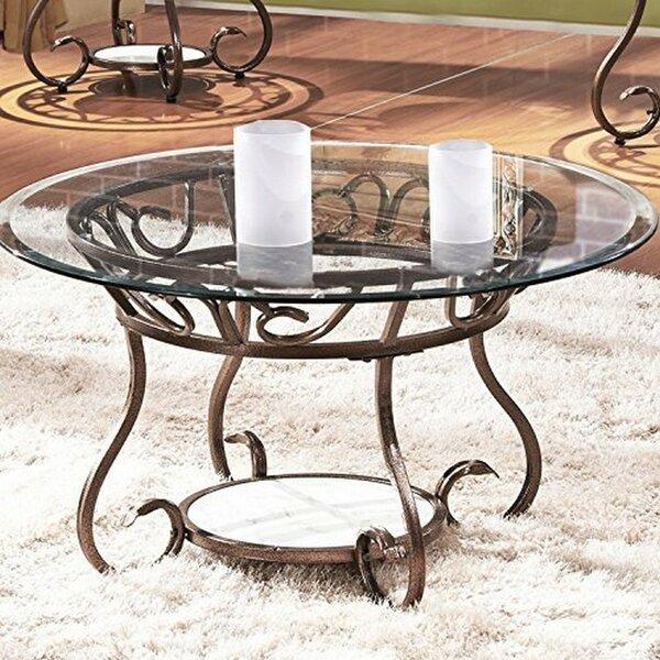 Crossen Base Coffee Table by Fleur De Lis Living
