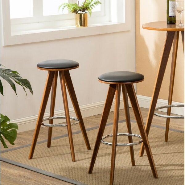Nick Wooden 29.53 Bar Stool (Set of 2) by George Oliver