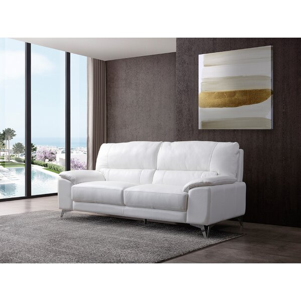 Podington Leather Sofa by Orren Ellis
