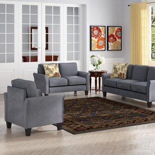 Goldnilla 3 Piece Living Room Set by Red Barrel Studio®