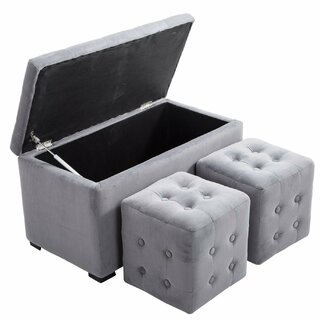 Alrun 3 Piece Nesting Tufted Storage Ottoman Set by Winston Porter SKU:BB427160 Check Price
