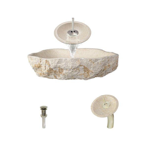 Galaga Stone Specialty Vessel Bathroom Sink with Faucet by MR Direct