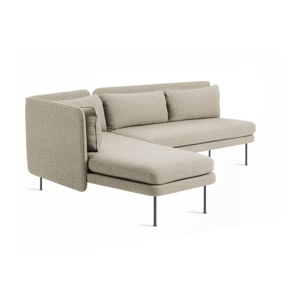 Bloke Armless Sofa with Left Arm Chaise by Blu Dot