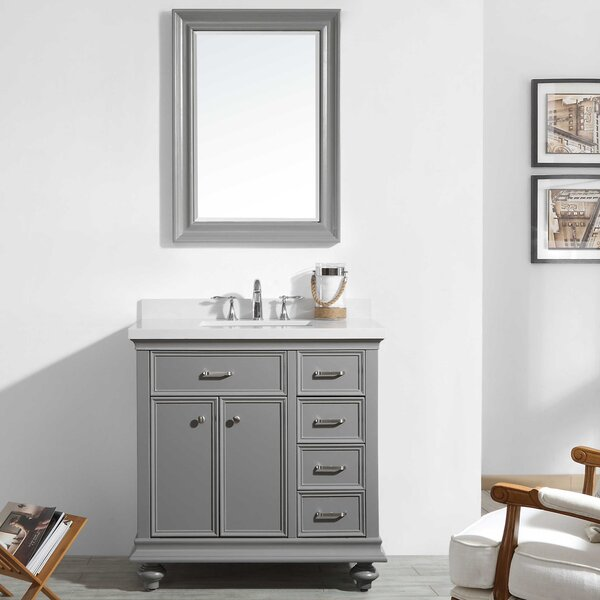 Weisner 36 Bathroom Vanity Set with Mirror by Alcott Hill