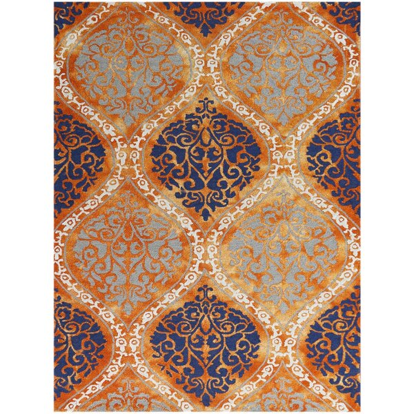 Pavilion Hand-Tufted Orange Area Rug by Charlton Home