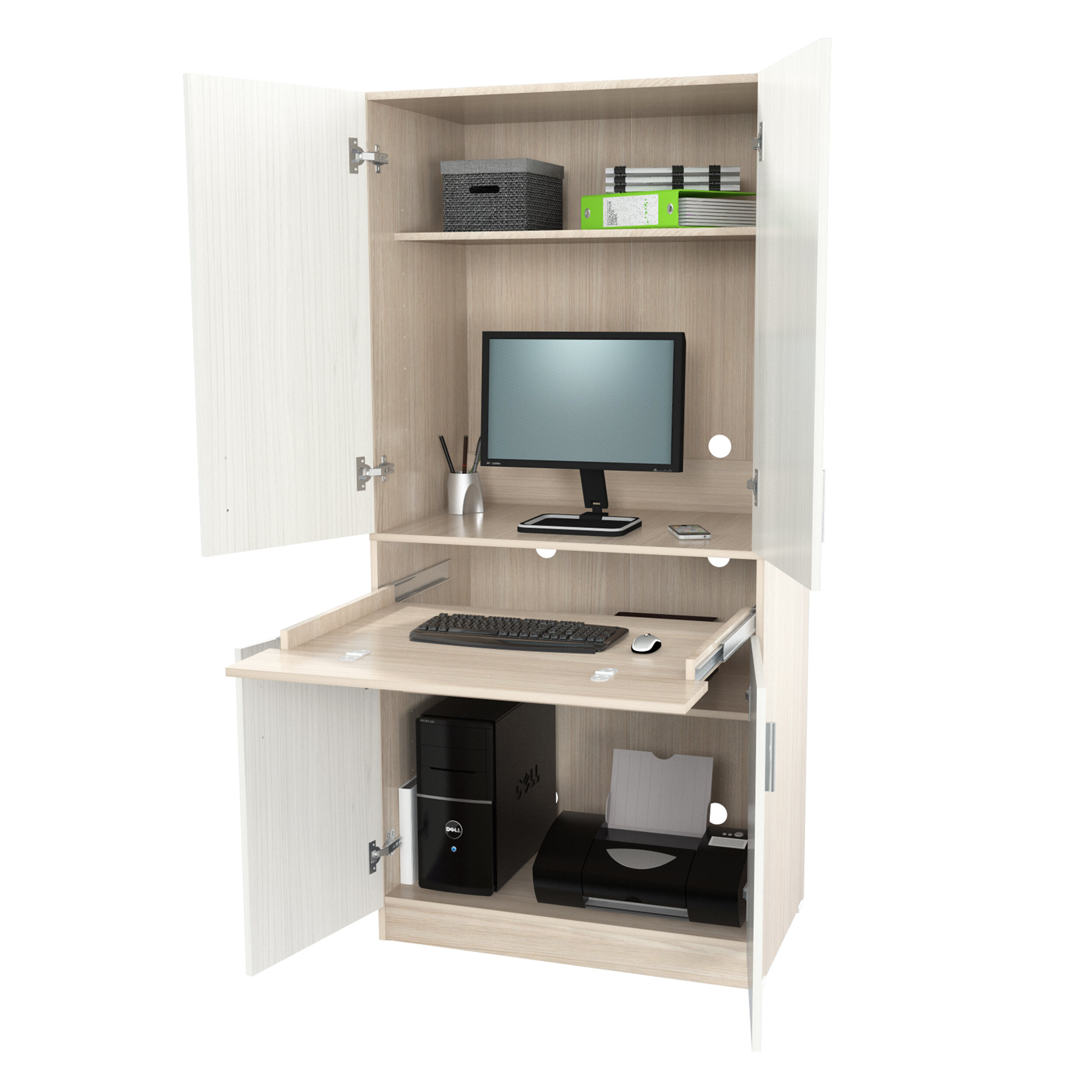 Laude Run Bluxome Armoire Desk
