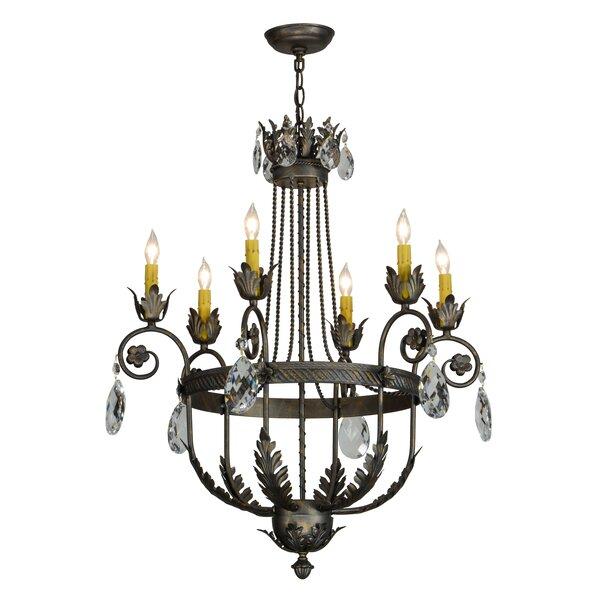 Launcest 6 - Light Candle Style Empire Chandelier by Astoria Grand Astoria Grand