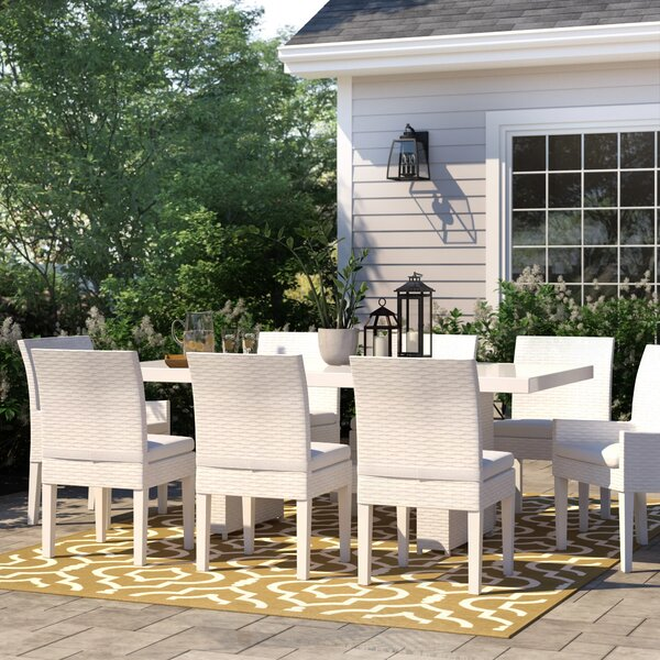 Menifee 9 Piece Dining Set with Cushions by Sol 72 Outdoor Sol 72 Outdoor