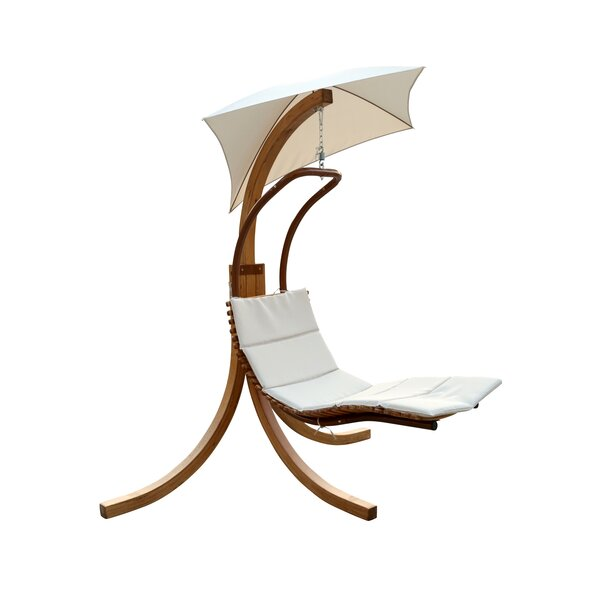 Polyester Hanging Chaise Lounger with Stand by Leisure Season