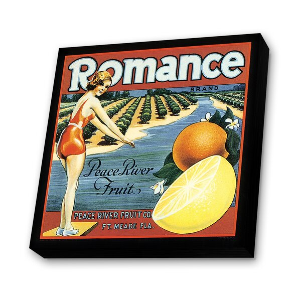 Romance Vintage Advertisement Plaque by Lamp-In-A-Box
