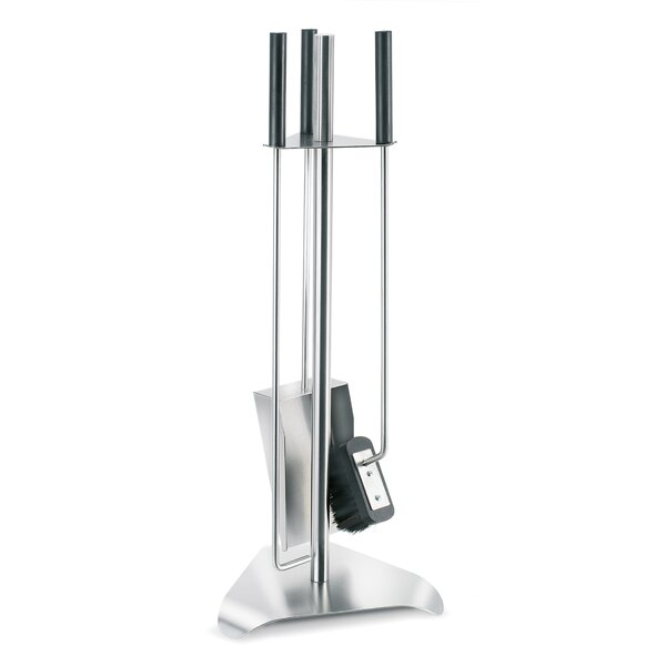 Chimo 3 Piece Stainless Steel Fireplace Tool Set By Blomus