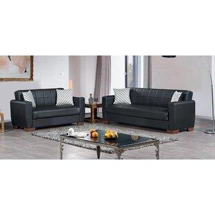 Alexander-Ferba 2 Piece Leather Sleeper Living Room Set by Ebern Designs